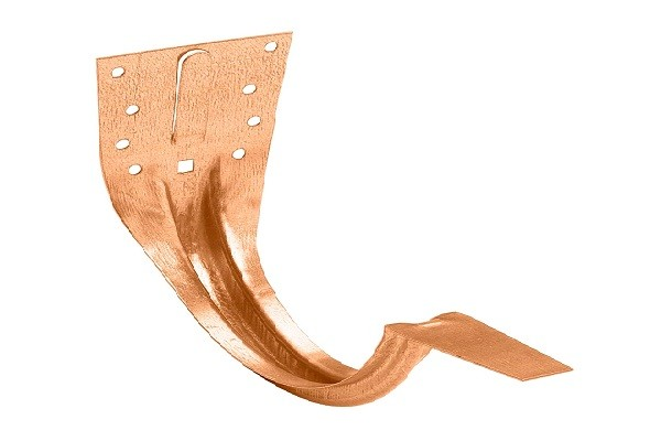 Крюк крепления желоба медный карнизный Zambelli D125мм