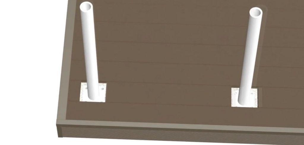 Стальное усиление для опорного столба 120*120мм системы ограждений из ДПК CM Railing
