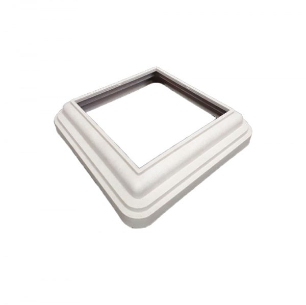 Юбка для столба из ДПК 120*120мм цвет белый