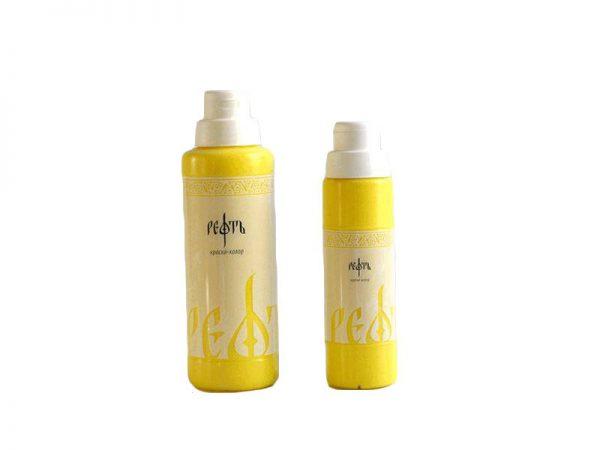 Силикатная краска ТМ «РЕФТЬ» 0.5л цвет Желтый лимонный