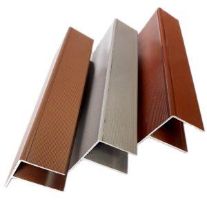 Алюминиевый F-профиль 4000x55x30 мм для террасной доски