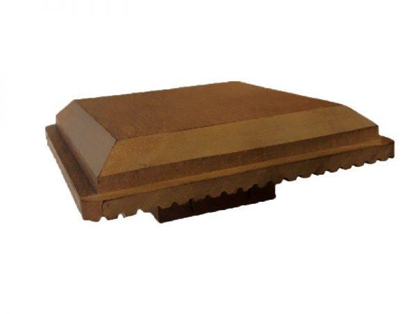 Крышка для опорного столба 120x120мм цвет Тик