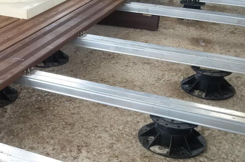 Алюминиевая лага для террасной доски